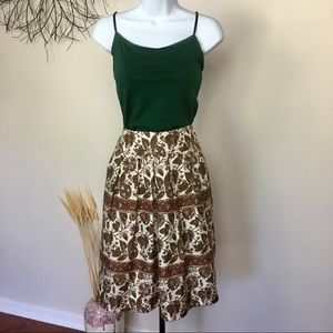 100 SILK floral banana republic skirt with pockets